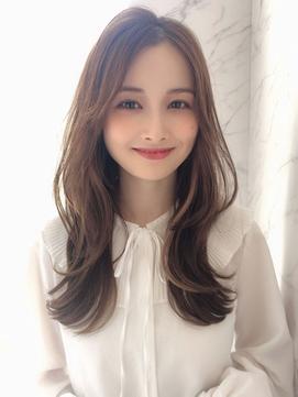 【Ami渋谷】大人女性も似合う/ヨシンモリ/韓国風/ロングレイヤー