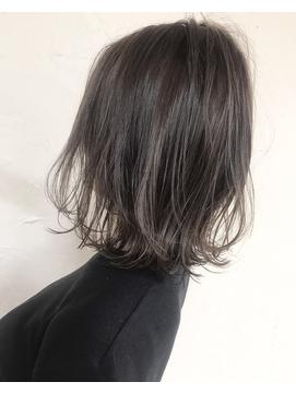 黒髪風グレージュアッシュSHIGE
