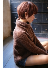 【+~ing deux】ころんと耳かけショート 【上川渡紗穂】 .46