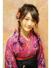 《cerca hair》卒業式に袴♪ゆる編みおさげ おさげ.1