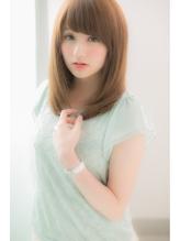【Euphoria】ミルクティーカラー☆姫カット全ての男子を虜に☆ 前髪パーマ.60