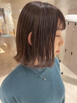 【lano by hair 銀座】切りっぱなしボブ