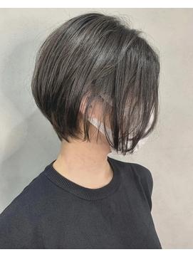 前髪ナシ/前下がりショートボブ/大人女子/20代/30代