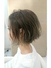 【Euphoria】ルーズウェーブ×グレージュ★ショートボブ 前髪パーマ.9