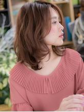 *+COVER HAIR+*…アシンメトリーでこなれ感☆くせ毛風ミディc くびれカール.39