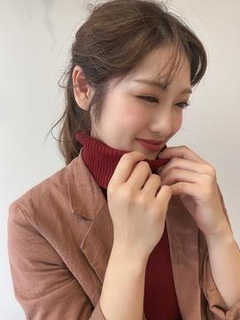 ニット×uka×ポニーテール[津市/久居/津駅/久居駅]