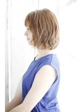 吉祥寺3分/夏のイメチェン耳かけ毛先パーマフォギーベージュ/050