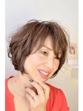#50代 #バレイヤージュ白髪ぼかし ミセス.20