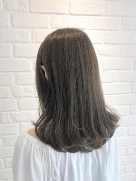 髪質改善 アッシュグレージュ 透明感カラー ブリーチなし