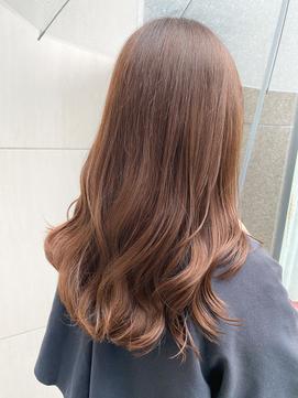 ブラウン 色落ちが綺麗な白髪染め グラデーション 雨の日も艶感