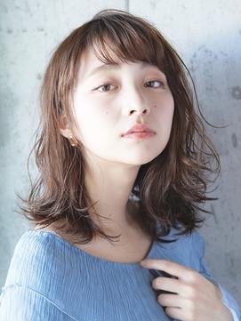 ミディアムレイヤー/ふんわりパーマ/低温デジタルパーマ/春髪型
