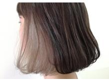 インナーカラー、グラデーション、透け感あるトレンドヘア