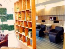 隠れ家のようなマンションの一室が自然で溢れています