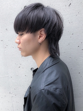 【BREEN原宿】バイオレットシルバー×マッシュウルフ