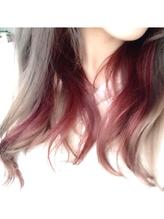エクステ風インナーカラー 巻き髪.45