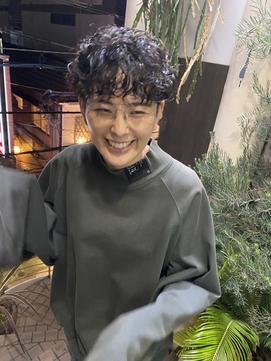 qiie /天神/天神駅/パーマ/ショートパーマ/メンズパーマ/黒髪
