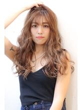 [HELM渋谷]ココアミルクティーカラー×シースルーバング2.53