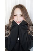 ホワイトグレージュ☆透け感mix巻き.54