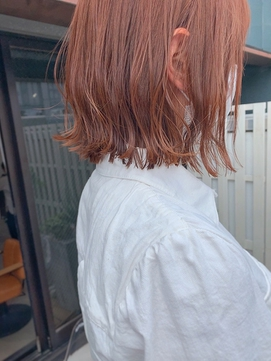 ブリーチなし*アプリコットオレンジ*透明感*mio kuwamoto