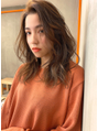 【Blanc/栄】ウルフパーマ_大人ガーリー_セミロング