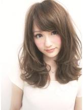 【Euphoria】大人可愛いミルクティーカラー☆姫カット☆ 前髪パーマ.48