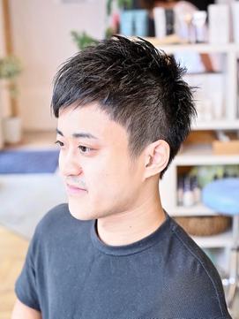 【リビーチ】爽やかなアシメバングナチュラルショートヘア!