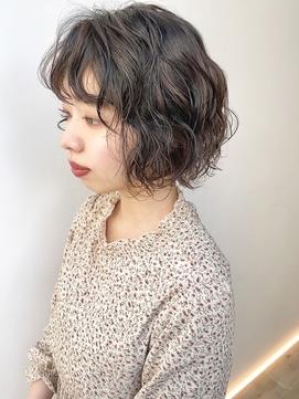LEMO アンティークパーマボブ つよめパーマ 前髪パーマ
