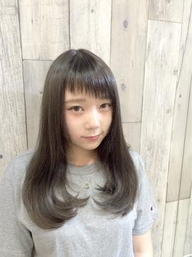 【新宿TOMCAT】斜め前髪/ダークグレージュロング