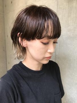 bibito 薄めバング 前髪インナーカラー&マッシュウルフ