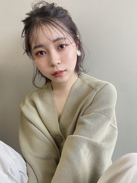 Emma ecole お呼ばれヘア ボブアレンジ ハーフアップ by.高橋