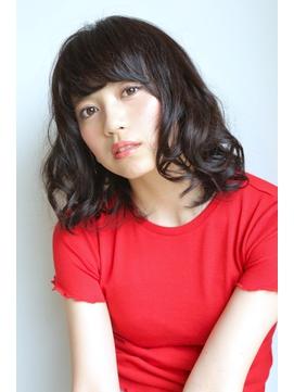 ◆RICCI&ANGIE 八戸三春屋◆黒髪パーマの艶髪コンパクトミディ