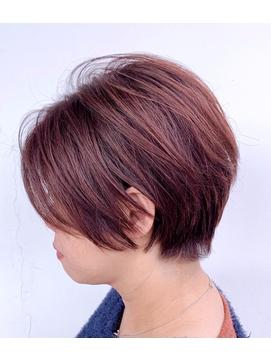 オシャレ染めの白髪染め/セクションカラー/ハンサムショート