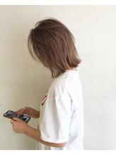 【デパール】小顔ショートグラデーションカラーブランジュミディ.13