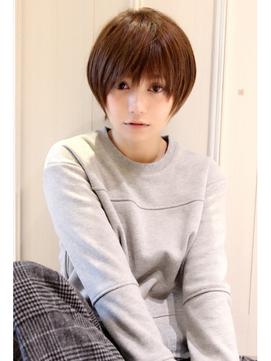 黒髪アッシュ☆顔 褒められショート【外苑前・青山・表参道】