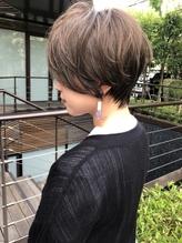 【mee.】福島賢太 カーキグレージュ くびれショート .39