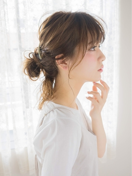 ☆月曜営業☆ojiko.【毛先を残したオトナ女子のお団子スタイル】