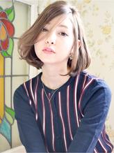 ☆フェミニンな無造作ウェーブに透明感なメルトカラー小顔ボブ☆ エイジング.39