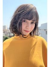 小顔ナチュラルボブ×ベージュカラー/無造作カール.20