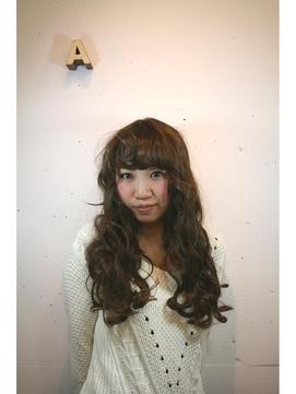 横ウネリ!フラットウェーブ風☆巻き髪