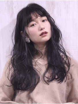 黒髪ロング&デジキュアパーマ