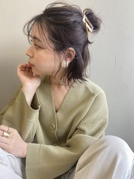 Emma ecole ハーフアップおだんご ショートヘアアレンジ by.高橋