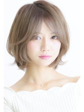 20代30代40代大人かわいい小顔ひし形ショートボブ透明感カラー