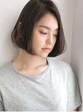 ワンレン×アッシュグレージュ☆前下がりショートボブ .31