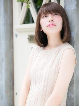 ラフさと甘さが可愛い☆小顔ミディボブスタイル
