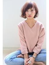 【NOA】モードヘア 3Dカラー ジグザグバング ミニマムボブ.59