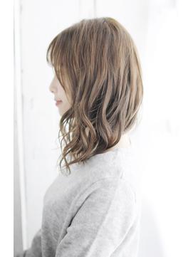 小顔グラデーションカラーバターブランジュ美髪ダブルバング/157