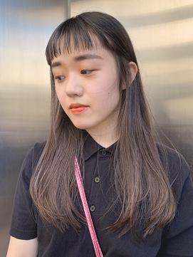 【KON】クールストレート_アッシュブラウン_オン眉