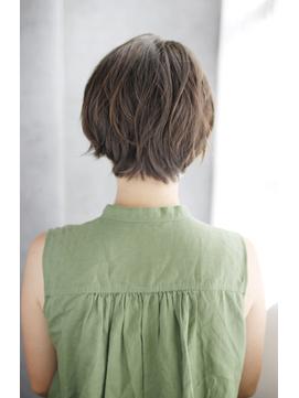 吉祥寺3分/前髪ココアブラウン大人かわいいフリンジウェーブ/036