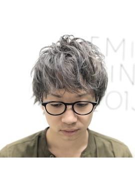 【EMIRAI/門元】 スパイラルパーマ×無造作マッシュ