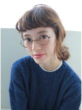 【nanuk】ふんわり眉上カールバングと簡単アレンジヘア◇ 前髪パーマ.47